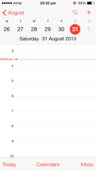 iOS 7 Calendar day-View