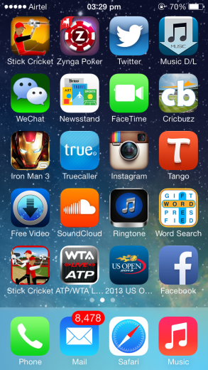 iOS 7 with more iOS 6 like icons