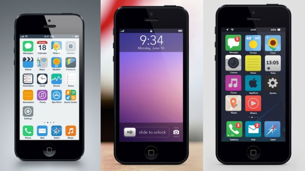 iOS 7 Mock design images